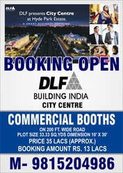 DLF commercial booths for sale