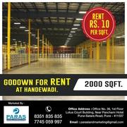 2000 sqft Godown for Rent in Handewadi